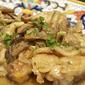 Pollo al vino bianco con funghi