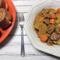 Mustard Herb Beef Stew & Winter Savory Popovers
