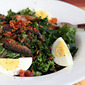 Recipe for kale salad with mushrooms and mustard vinaigrette