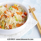 Fun food - rice stick noodles with Arctic char