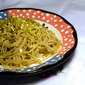 Spaghetti with Anchovies and Pistachio