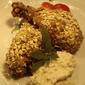 Oat-crusted chicken with sage