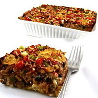 Image of Absolutely Delicious, Skinny Beef And Bean Enchilada Casserole Recipe, Cook Eat Share