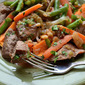 Beef Stew-Topped Sweet Potato