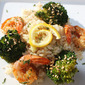 Roasted Spicy Shrimp with Broccoli Florets