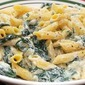 Gluten Free Penne with Spinach and Ricotta