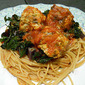 Lighten Up - Kid Friendly Chicken-Kale Meatballs