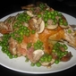 Tuscan Brick Chicken with Bacon, Peas, & Wine