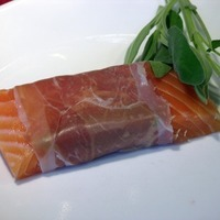 Salmon Saltimbocca