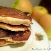 Image of Apple - Yogurt Rustic Cloud Pancakes Recipe, Cook Eat Share