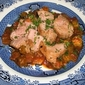 Sliced Pork Tenderloin Served On A Bed Of Organic Okra Gumbo