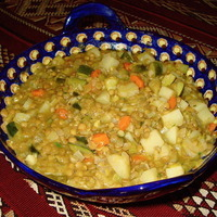 Lentils & Vegetables ~ Moroccan Style