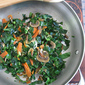 Collard Greens with Krill, Mushrooms, Carrots
