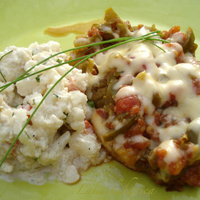 Chili chops with cauliflower salad