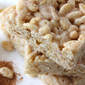 Cinnamon Marshmallow Rice Krispie Treats with Cinnamon Glaze