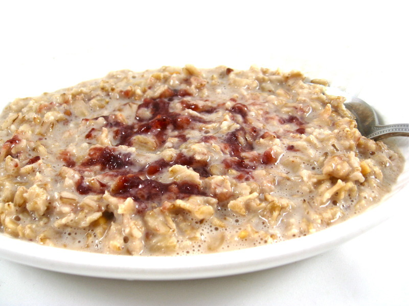Heart Healthy, Peanut Butter and Jelly Oatmeal Recipe by Nancy ...