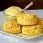 Corn Flour Biscuits with Maple Butter