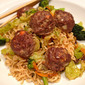 What's in the Fridge: Asian Meatballs with Vegetable Lo Mein