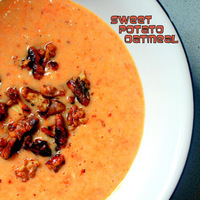 Sweet Potato Oatmeal with Honey Toasted Walnuts