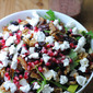 Fruit, Nut, and Goat Cheese Salad with Pomegranate Vinaigrette