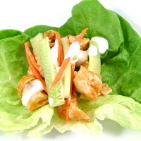 "Spicylicious, Skinny ""Hot Wings"" Lettuce Wraps"