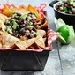 Healthy Super Bowl snacks: Black Bean-Avocado Salsa with Home-Baked Tortilla Chips