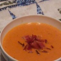 Tomato and Gorgonzol cheese Soup