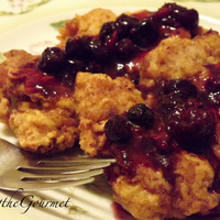 Image of Boneless Fried Chicken Thighs With Blueberry Sauce!!! Recipe, Cook Eat Share