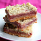 Strawberry Rhubarb Crumb Bars (Low Carb and Gluten-Free)