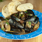 Mussels with Apple Cider and Bacon for One