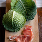One of Winter's treats - Parma Ham Parcels Filled With Savoy Cabbage
