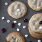 Cherry Vanilla White Chocolate Chip Cookies