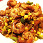 Chile-Dusted Shrimp with Quick Corn Relish