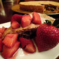 Flourless Chocolate Walnut Torte with Pinot-Noir-Laced Strawberries
