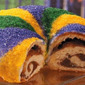 Mardi Gras King Cake Recipe II [Almond filling]