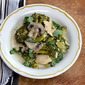 Recipe for slow cooker Thai green curry chicken with broccoli and mushrooms