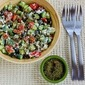 Recipe for Effie's Easy and Amazing Cottage Cheese Salad with Za'atar