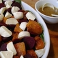 Roast Pumpkin, Beetroot and Bocconcini Salad with Guinness Dressing