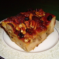 Cajun Bread Pudding with Praline Sauce