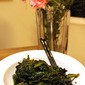 Mustard greens with garlic and dark soy sauce