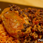 Chipotle Pork Chops and Black Beans