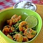 Citrus Cilantro Shrimp with Thyme and Green Peas