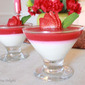Yogurt Panacotta with Strawberry Jelly