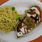 Grilled Balsamic Chicken with Mozzarella and Pesto