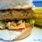 Salmon Burgers with Caesar Slaw