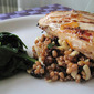 Nutritious Wheat Berry Salad with Orange Glazed Chicken