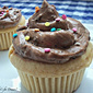 Ganache Filled Peanut Butter Cupcakes