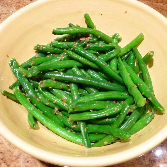 Simple Sesame Green Beans Recipe by John - CookEatShare