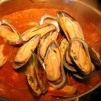Mussels & Sausage in Tomato Broth
