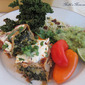 #195 Kale, Zuchini and Cheese Enchiladas with Kale Chips